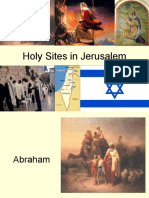 Holy Sites in Jerusalem 1516
