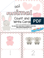 Animal Write and Count Cards