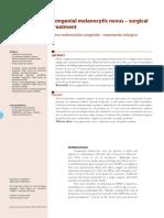 Nevo Melanocitico Congenito Tratamento Cirurgico