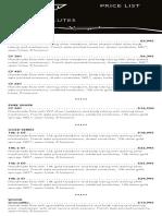 2014 Sankyo Price List