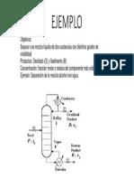 Ejemplo Destilacion Binaria