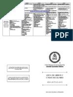 Lista de Libros Primaria 2019