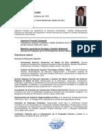 Resumen CV César Huisa