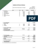 Analisis de Precios Unitarios Muro Tipo 03