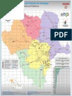 Mapa Red Estatal de Bibliotecas Durango 2019
