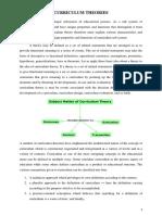Curriculum theories