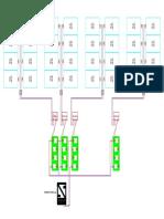 Esquema Fotovoltaico 24 Paneles 250Wp, 4 nidos