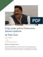 03.03.19 Exige grupo priista Democracia Interna expulsión de Peña Nieto