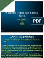 Shoulder Region and Thorax1