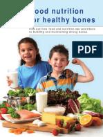 Good Nutrition of Healthy Bones