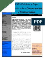 INTI-Celulosa y Papel. Boletín Sobre Conservación y Restauración. Contenidos. Prefacio 1. Apuntes. Prefacio. Artículos