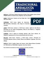 Horarios Misa Tradicional en Andalucia-2-.Ene18