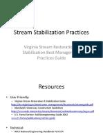 Stream Stabilization Practices Workshop 11-10-11