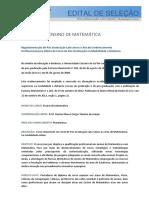 Edital Ensino de Matemática