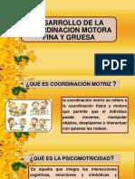 Desarrollo de La Coordinacion Motora Fina y Gruesa