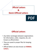 Notes on Official Letters