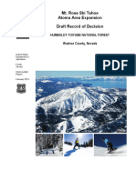 Draft Record of Decision Mt Rose