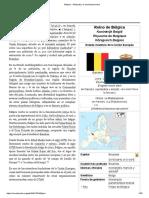 Bélgica - Wikipedia, La Enciclopedia Libre