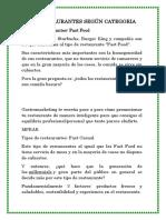 TIPOS RESTAURANTES SEGÚN CATEGORIA.docx