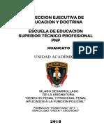 SILABO DE DERECHO PENAL Y PROCESAL PENAL APLICADOS A LA FUNCION POLICIAL  ACTUAL.docx