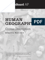 AP Human Geography Course Description