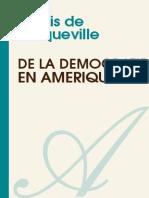 Alexis de Tocqueville - De La Democratie en Amerique II