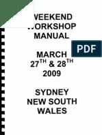 Australian Freeman Mark Pytellek's WORKSHOP MANUAL APRIL 2009