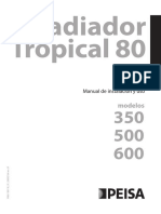 Manual Radiador Tropical