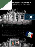 Armando Nerio Guédez Rodríguez - Cuatro venezolanos inscritos para participar en el XVIII Rochefort Chess Festival-Masters 2019