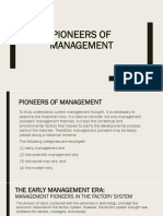 Pioneers of Mgmt