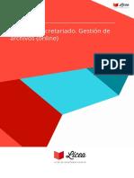 Curso Secretariado Gestion Archivos Online
