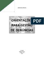 Manual de orientações para gestão de denúncias