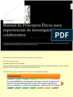 Manual de Principios Éticos para experiencia de invetsigación colaborativa es