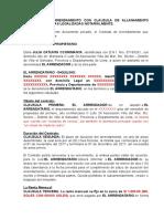 Contrato de Arrendamiento Con Clausula de Allanamiento Futuro Con Firmas Legalizadas Notarialmente (Autoguardado)