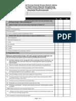 Pre-Construction Checklist ICRA