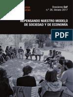 REPENSANDO NUESTRO MODELO DE SOCIEDAD Y DE ECONOMÍA