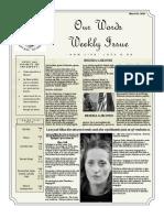 Newsletter Volume 10 Issue 09