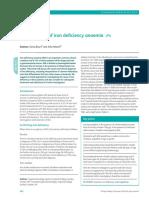 Recomendaciones Para La Investigación de La Anemia Por Deficiencia de Hierro