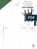 Perry Anderson - Transicion de la antiguedad al feudalismo.pdf