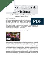 Los Testimonios de Las Víctimas