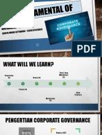 PPT tata kelola bab 1 - fundamental of corporate governance