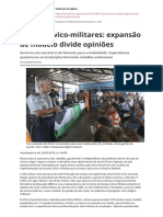 Escolas Civico Militares Expansao de Modelo Divide Opinioespdf