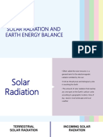 Radiation and Energy Balance