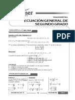 Tema 31 - Ecuación General de Segundo Grado