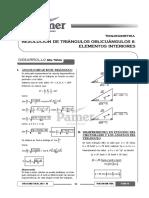 Tema 16 - Resolución de Triángulos Oblicuángulos II - Elementos Interiores