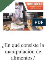 En Qué Consiste La Manipulación de Alimentos