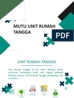 Materi Mutu URT 2019