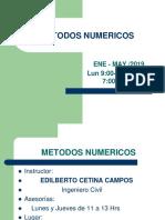 Presentación para la materia de métodos numéricos