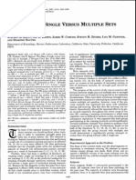 The Effect of Single Versus Multiple Sets on Strength