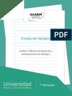 Unidad2.Metodosdeproduccionyalmacenamientodehidrogeno